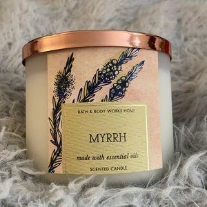 Myrrh Bath & Body Works essential oil candle